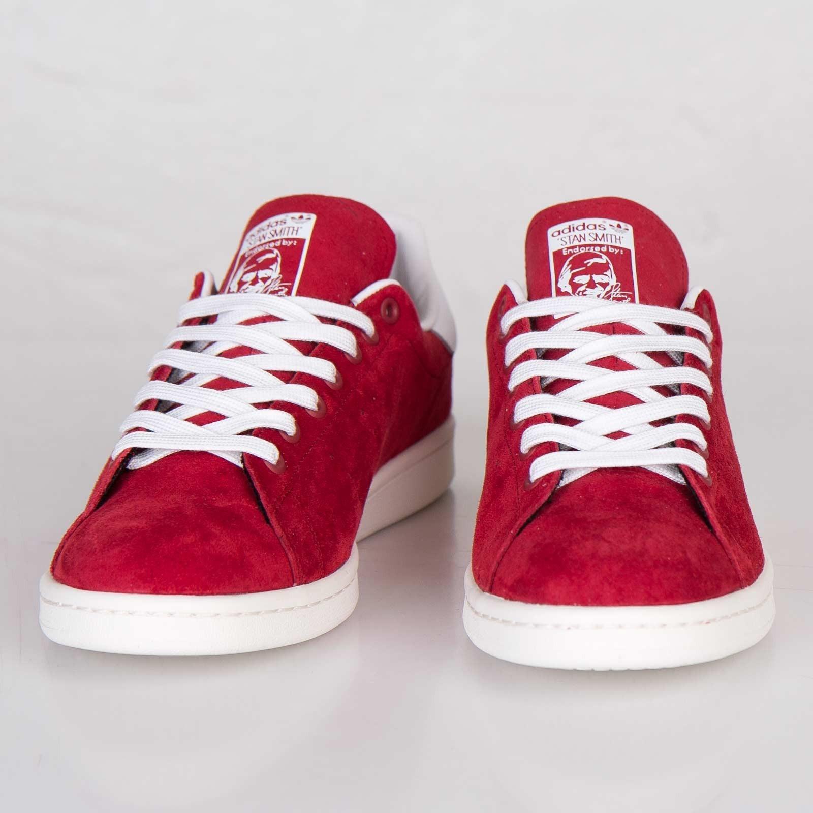 meilleur site web b1438 6cccc adidas stan smith rouge daim femme