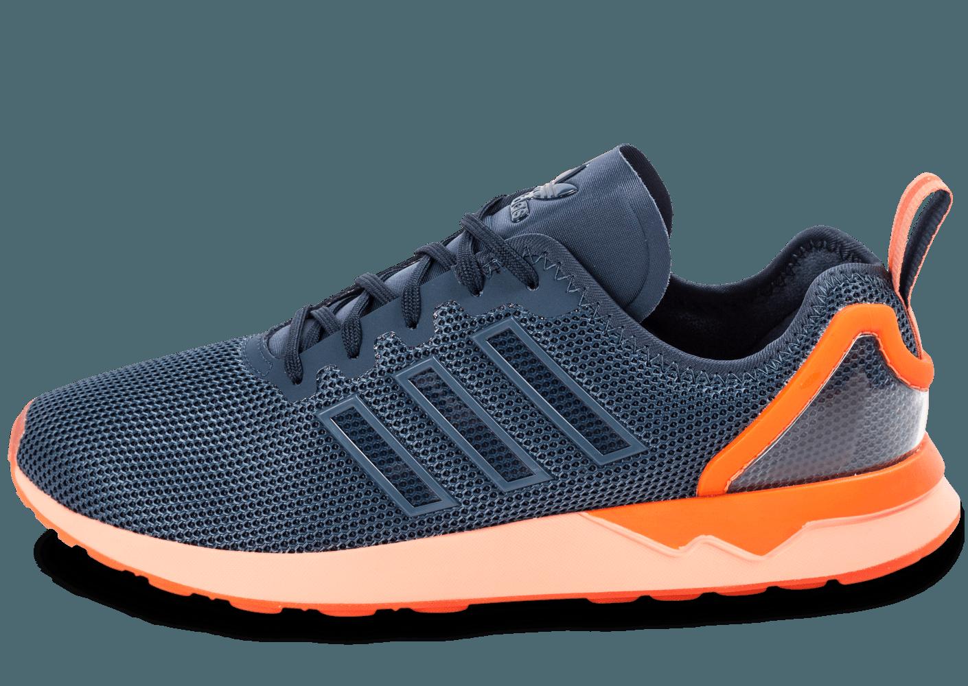 grande vente 9573a 4f697 adidas zx flux orange bleu